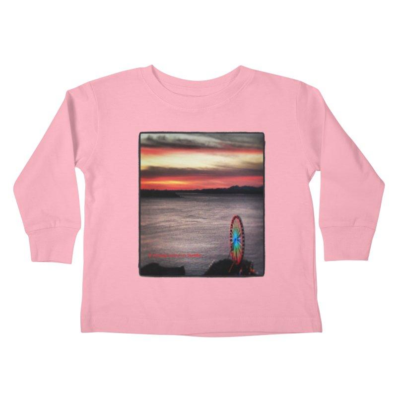 It never rains in Seattle! Kids Toddler Longsleeve T-Shirt by terryann's Artist Shop