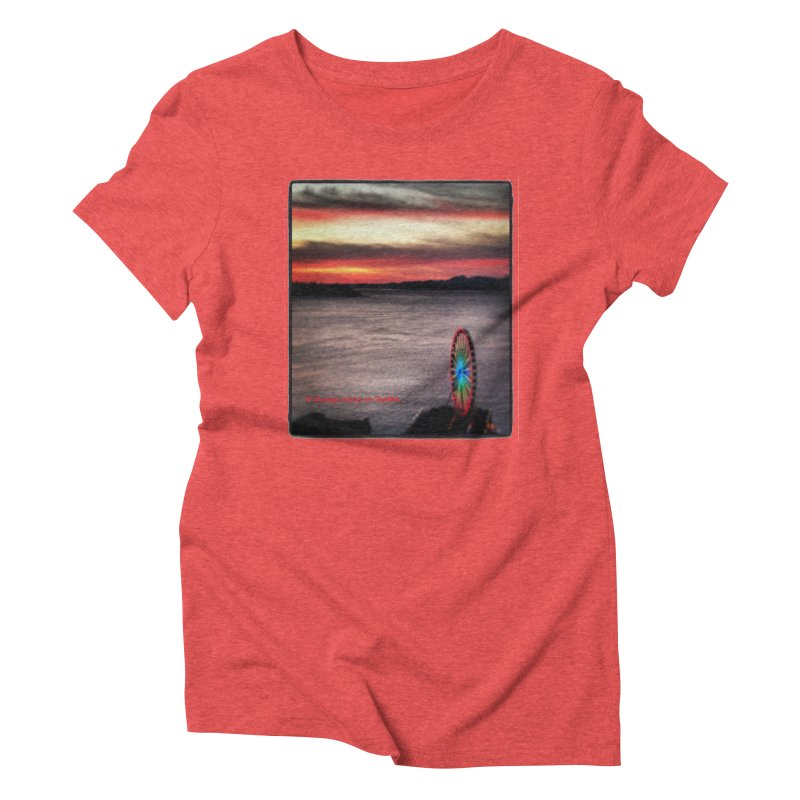 It never rains in Seattle! Women's Triblend T-Shirt by terryann's Artist Shop