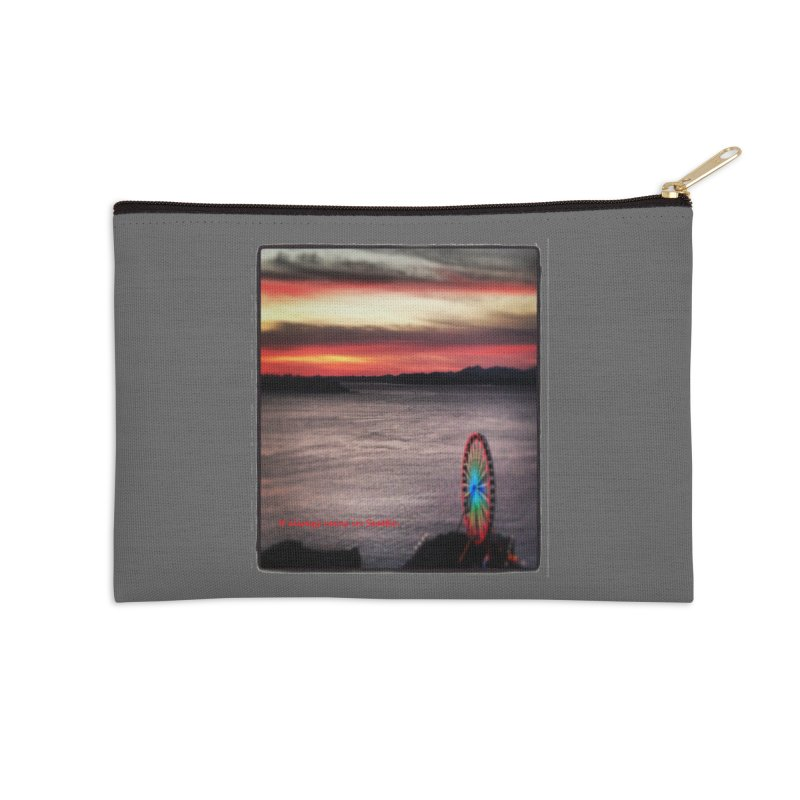 It never rains in Seattle! Accessories Zip Pouch by terryann's Artist Shop