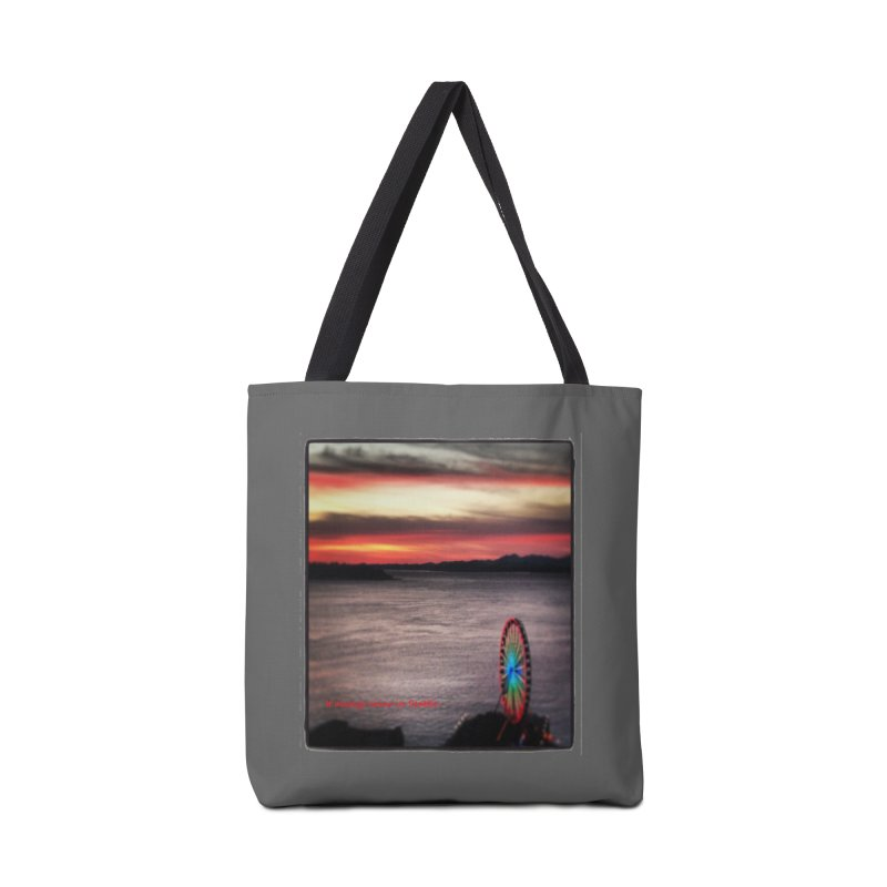 It never rains in Seattle! Accessories Bag by terryann's Artist Shop