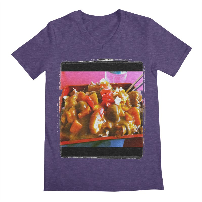 Curry in a Hurry. Men's V-Neck by terryann's Artist Shop