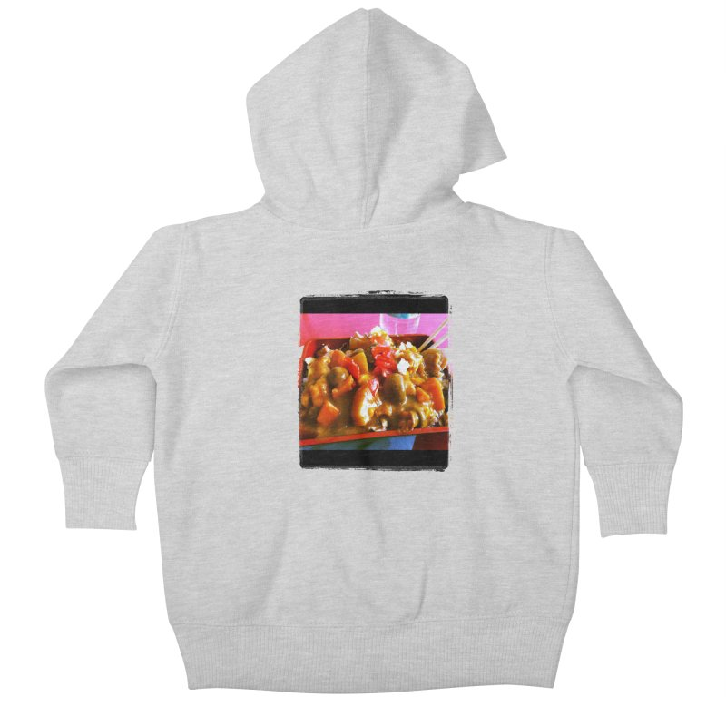 Curry in a Hurry. Kids Baby Zip-Up Hoody by terryann's Artist Shop