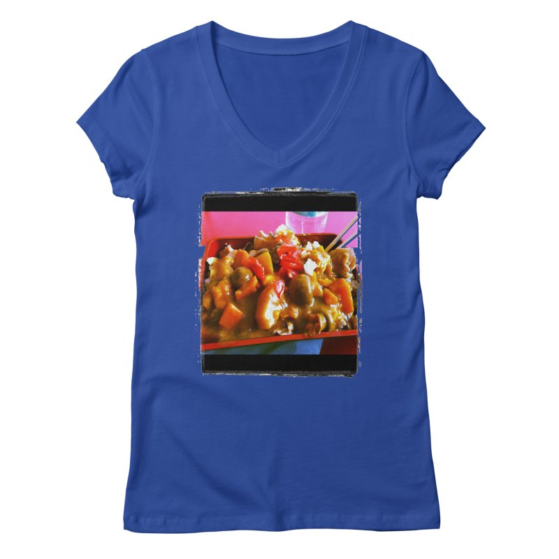 Curry in a Hurry. Women's V-Neck by terryann's Artist Shop