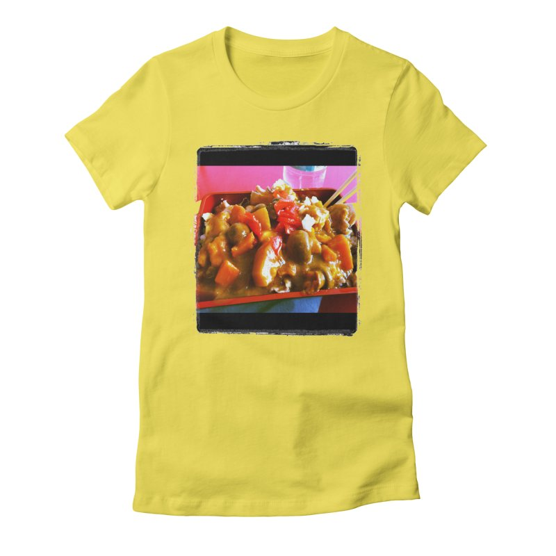 Curry in a Hurry. Women's Fitted T-Shirt by terryann's Artist Shop