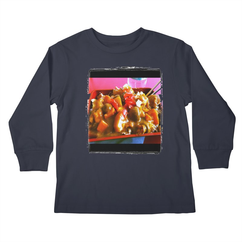 Curry in a Hurry. Kids Longsleeve T-Shirt by terryann's Artist Shop