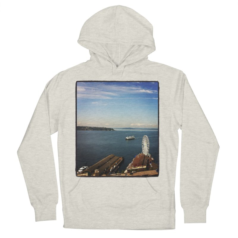 The Perfect Seattle Day, Ferry, and the Great Wheel Women's Pullover Hoody by terryann's Artist Shop