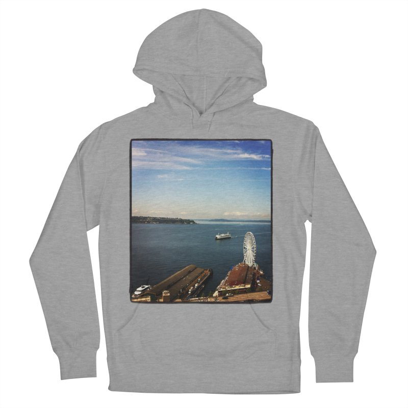 The Perfect Seattle Day, Ferry, and the Great Wheel Men's Pullover Hoody by terryann's Artist Shop