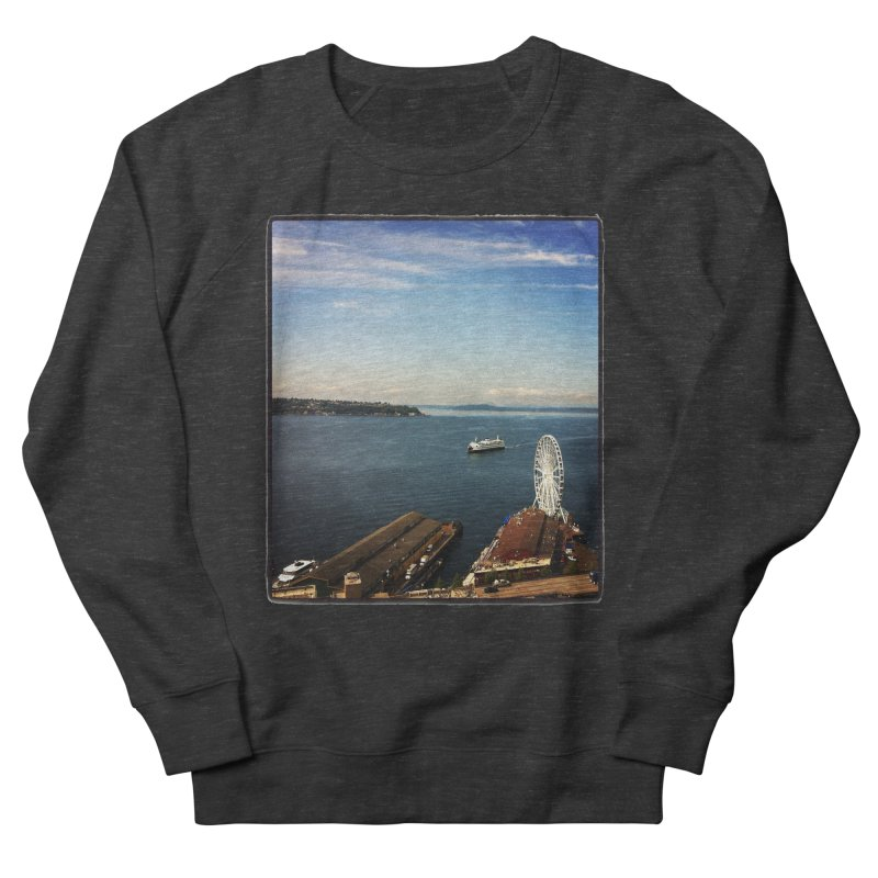 The Perfect Seattle Day, Ferry, and the Great Wheel Women's Sweatshirt by terryann's Artist Shop