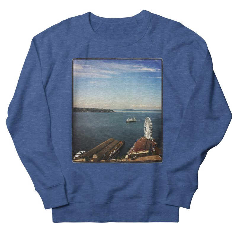 The Perfect Seattle Day, Ferry, and the Great Wheel Men's Sweatshirt by terryann's Artist Shop