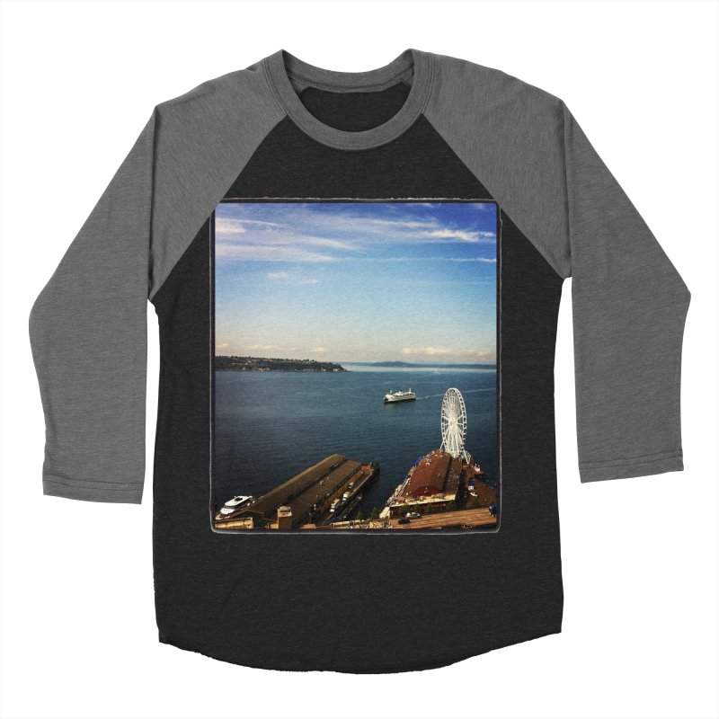 The Perfect Seattle Day, Ferry, and the Great Wheel Women's Baseball Triblend T-Shirt by terryann's Artist Shop