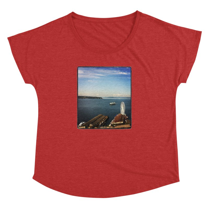 The Perfect Seattle Day, Ferry, and the Great Wheel Women's Dolman by terryann's Artist Shop