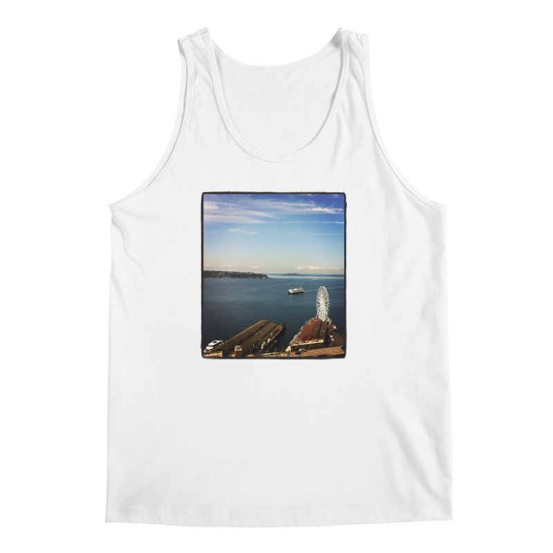 The Perfect Seattle Day, Ferry, and the Great Wheel Men's Tank by terryann's Artist Shop