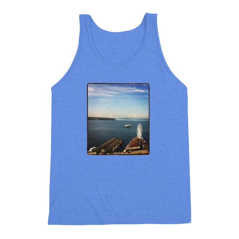 The Perfect Seattle Day, Ferry, and the Great Wheel Men's Triblend Tank by terryann's Artist Shop