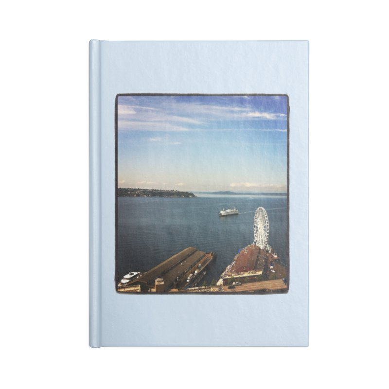 The Perfect Seattle Day, Ferry, and the Great Wheel Accessories Notebook by terryann's Artist Shop