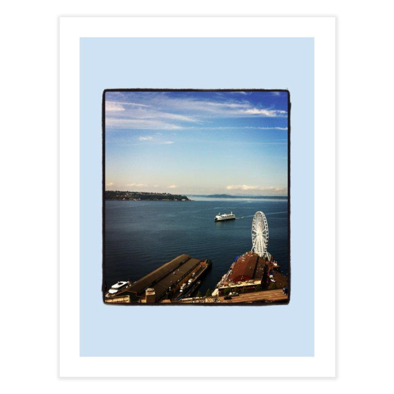 The Perfect Seattle Day, Ferry, and the Great Wheel Home Fine Art Print by terryann's Artist Shop