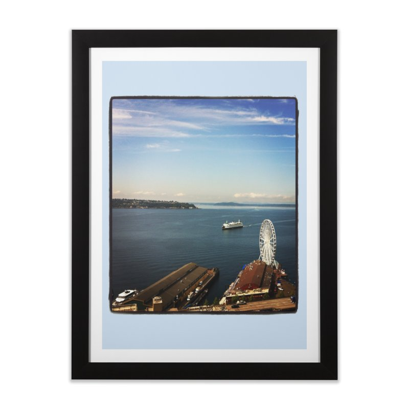 The Perfect Seattle Day, Ferry, and the Great Wheel Home Framed Fine Art Print by terryann's Artist Shop