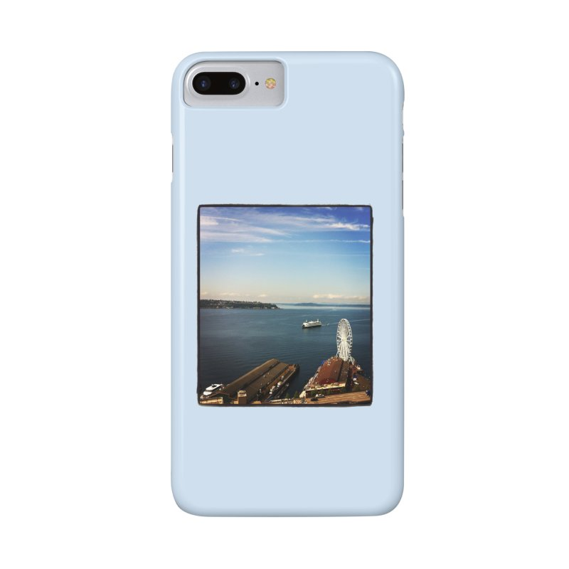 The Perfect Seattle Day, Ferry, and the Great Wheel Accessories Phone Case by terryann's Artist Shop