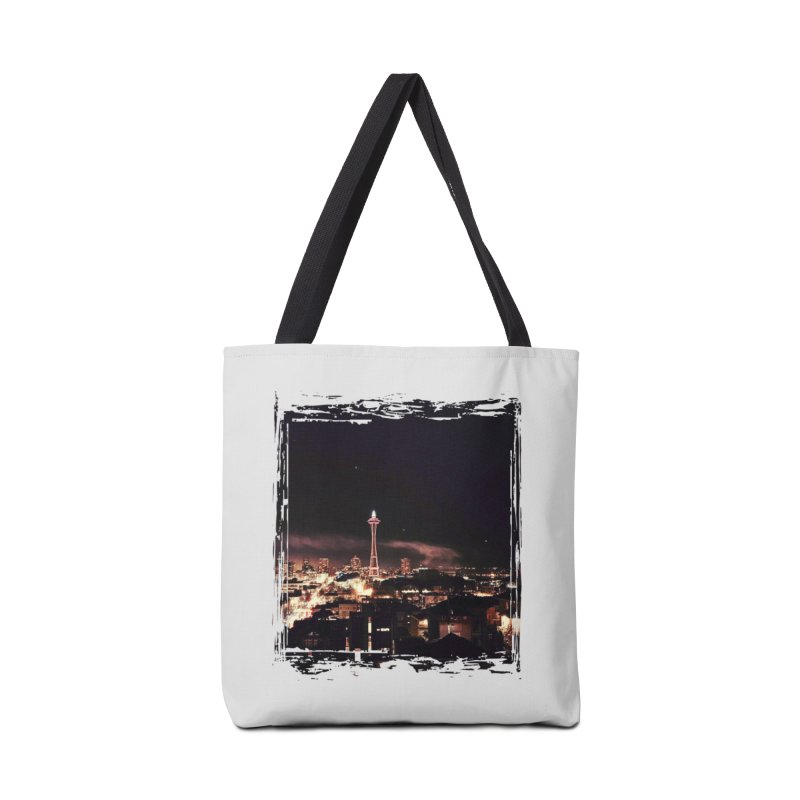 New Year Space Needle Accessories Bag by terryann's Artist Shop