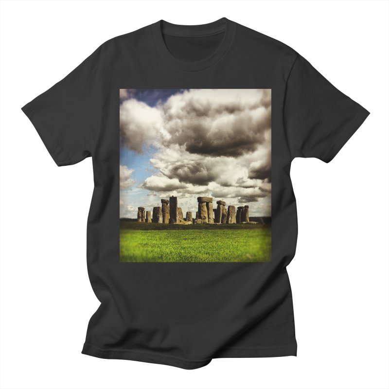 Stonehenge in Spring Men's T-Shirt by terryann's Artist Shop