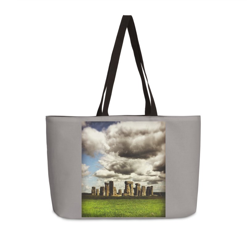 Stonehenge in Spring in Weekender Bag by terryann's Artist Shop