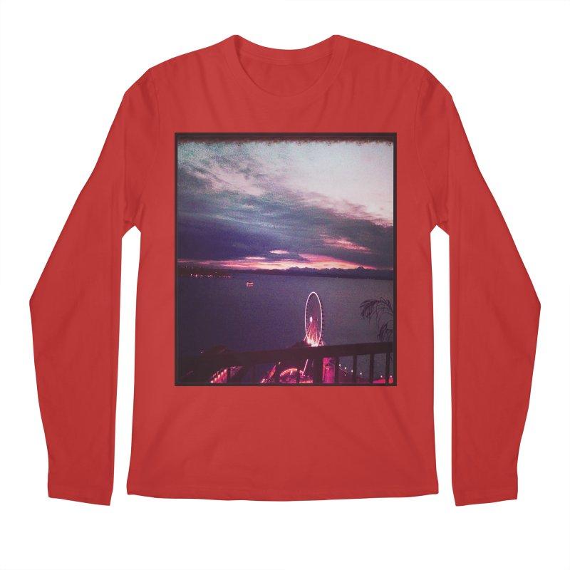 Seattle Sunset Wheel - Seattle Vibe Men's Longsleeve T-Shirt by terryann's Artist Shop
