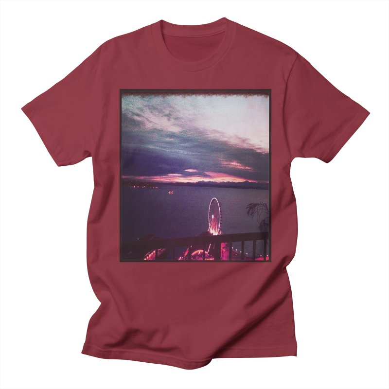 Seattle Sunset Wheel - Seattle Vibe Women's Unisex T-Shirt by terryann's Artist Shop