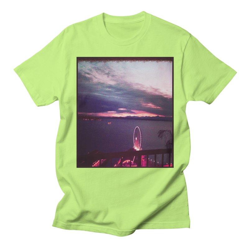Seattle Sunset Wheel - Seattle Vibe Women's Unisex T-Shirt by terryann's Artist Shop
