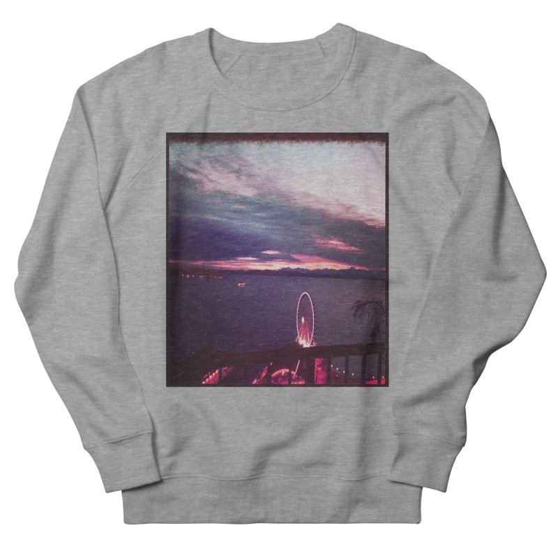 Seattle Sunset Wheel - Seattle Vibe Men's Sweatshirt by terryann's Artist Shop