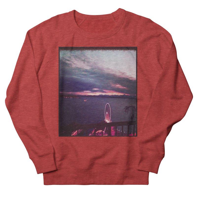 Seattle Sunset Wheel - Seattle Vibe Men's Sweatshirt by terryann's Artist Shop