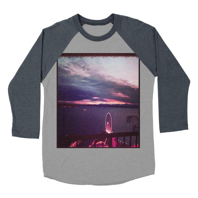 Seattle Sunset Wheel - Seattle Vibe Women's Baseball Triblend T-Shirt by terryann's Artist Shop