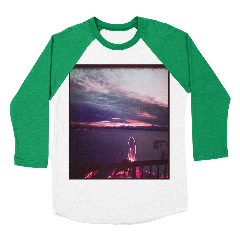 Seattle Sunset Wheel - Seattle Vibe Men's Baseball Triblend T-Shirt by terryann's Artist Shop