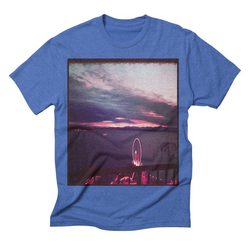 Seattle Sunset Wheel - Seattle Vibe Men's Triblend T-shirt by terryann's Artist Shop