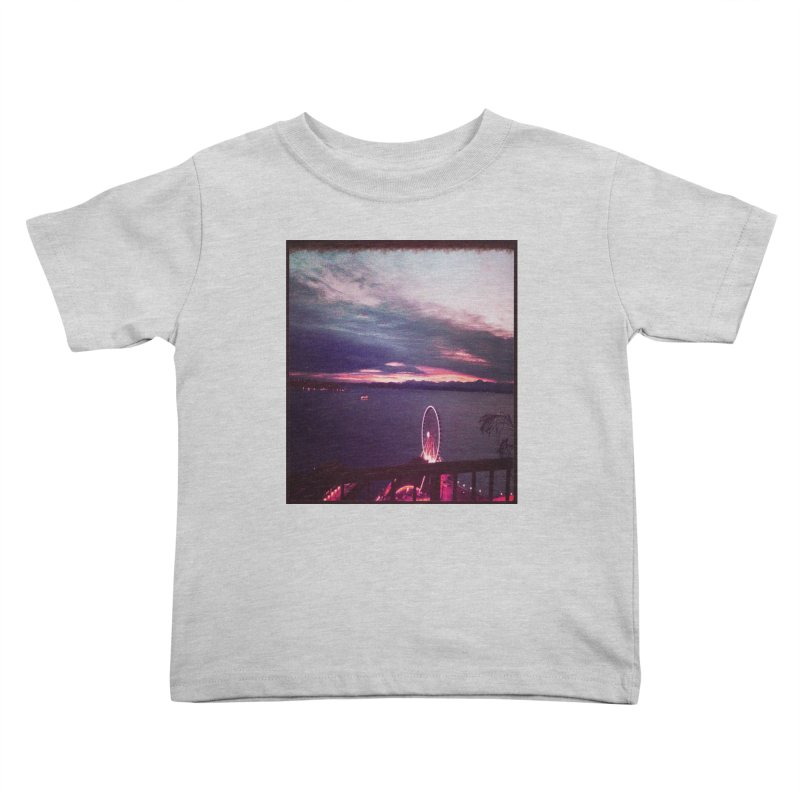 Seattle Sunset Wheel - Seattle Vibe Kids Toddler T-Shirt by terryann's Artist Shop