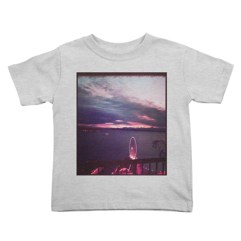 Seattle Sunset Wheel - Seattle Vibe Kids Toddler T-Shirt by terryann's Artist Shop