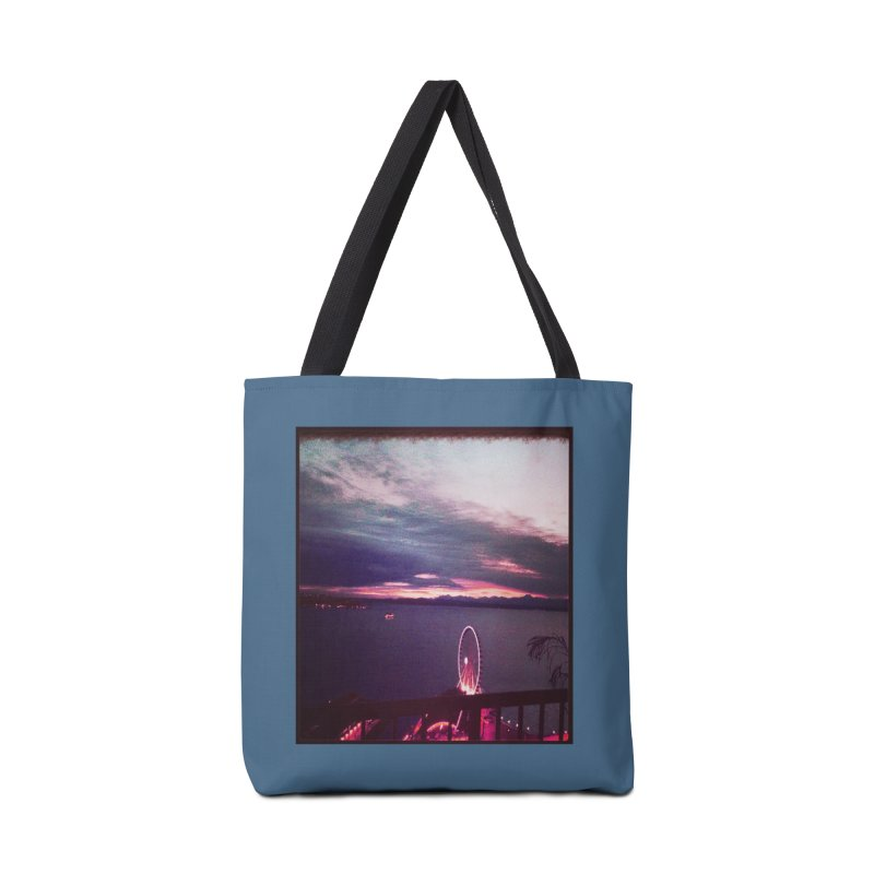 Seattle Sunset Wheel - Seattle Vibe Accessories Bag by terryann's Artist Shop