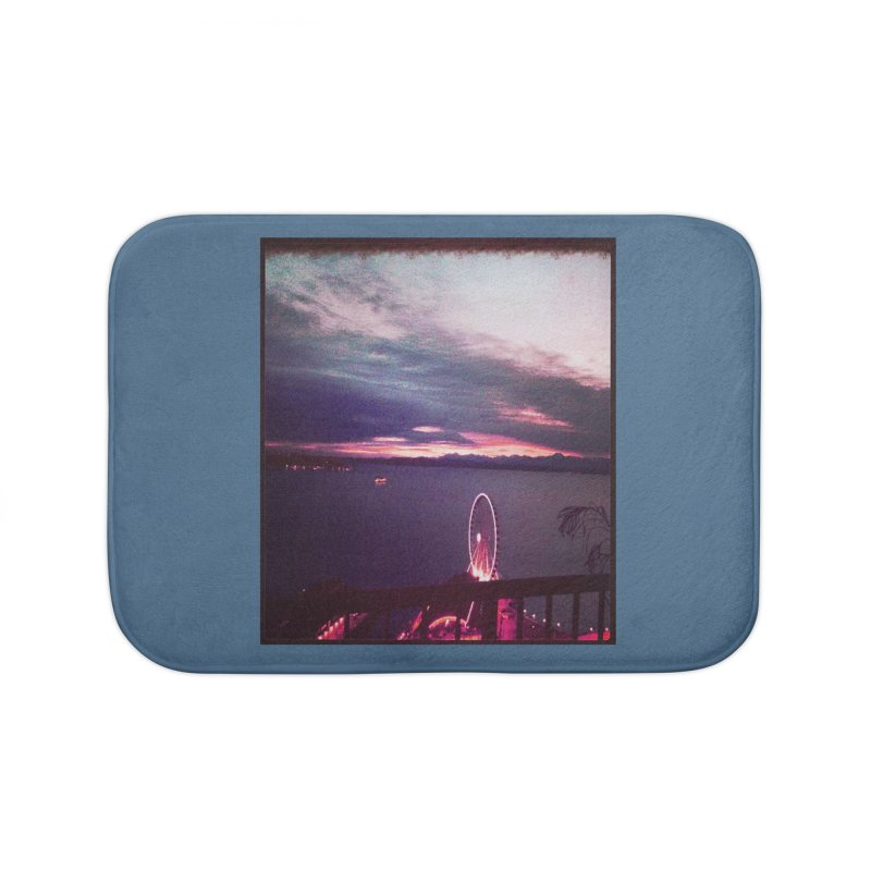 Seattle Sunset Wheel - Seattle Vibe Home Bath Mat by terryann's Artist Shop