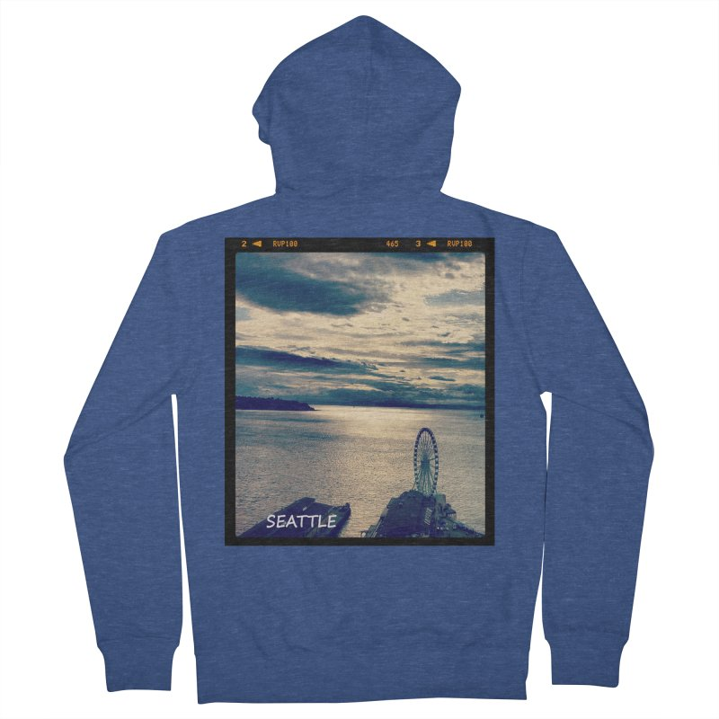 Blue Seattle - you have been there. Women's Zip-Up Hoody by terryann's Artist Shop