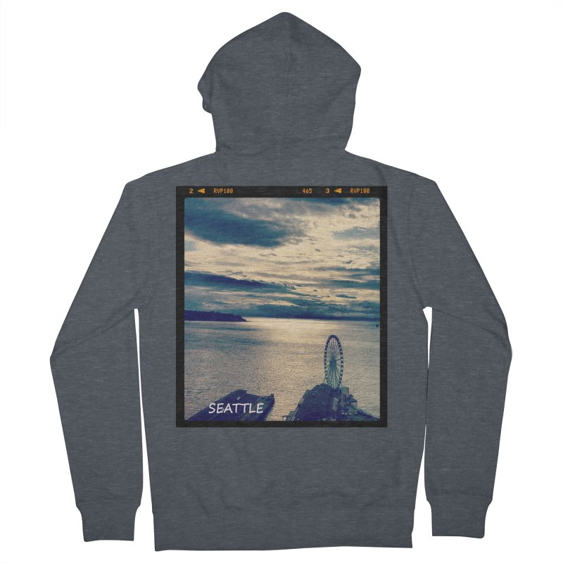 Blue Seattle - you have been there. Men's Zip-Up Hoody by terryann's Artist Shop