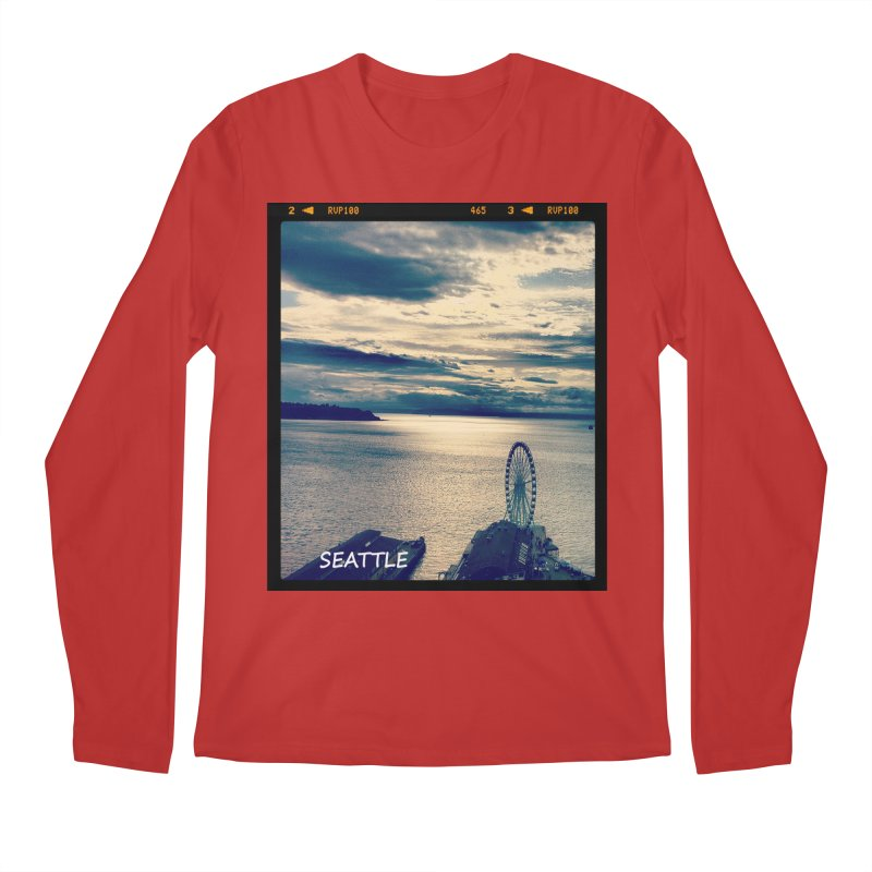 Blue Seattle - you have been there. Men's Longsleeve T-Shirt by terryann's Artist Shop