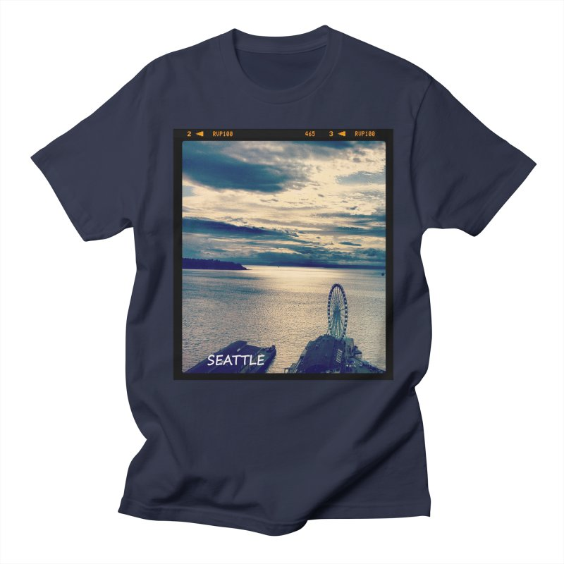 Blue Seattle - you have been there. Men's T-Shirt by terryann's Artist Shop