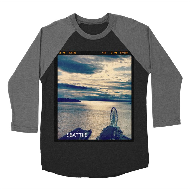 Blue Seattle - you have been there. Men's Baseball Triblend T-Shirt by terryann's Artist Shop