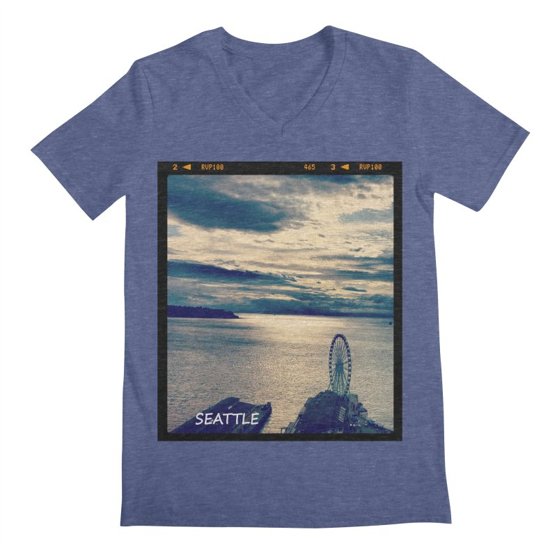 Blue Seattle - you have been there. Men's V-Neck by terryann's Artist Shop