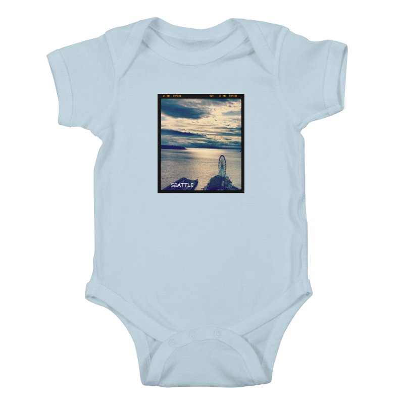 Blue Seattle - you have been there. Kids Baby Bodysuit by terryann's Artist Shop