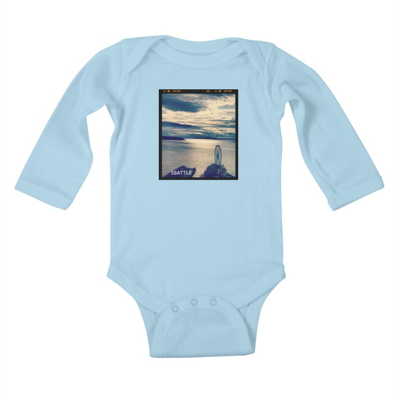 Blue Seattle - you have been there. Kids Baby Longsleeve Bodysuit by terryann's Artist Shop