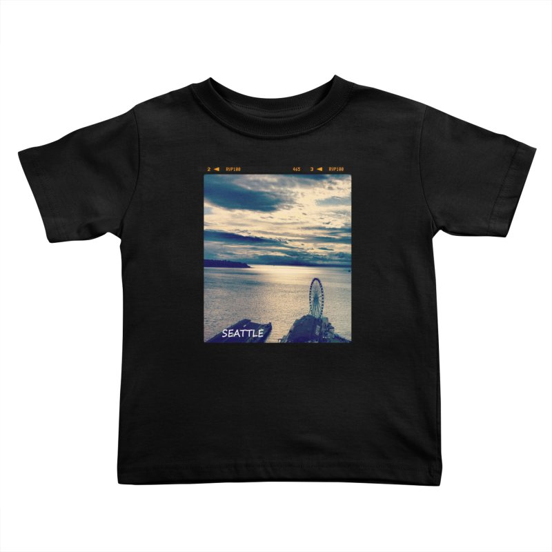 Blue Seattle - you have been there. Kids Toddler T-Shirt by terryann's Artist Shop
