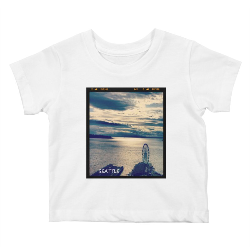 Blue Seattle - you have been there. Kids Baby T-Shirt by terryann's Artist Shop
