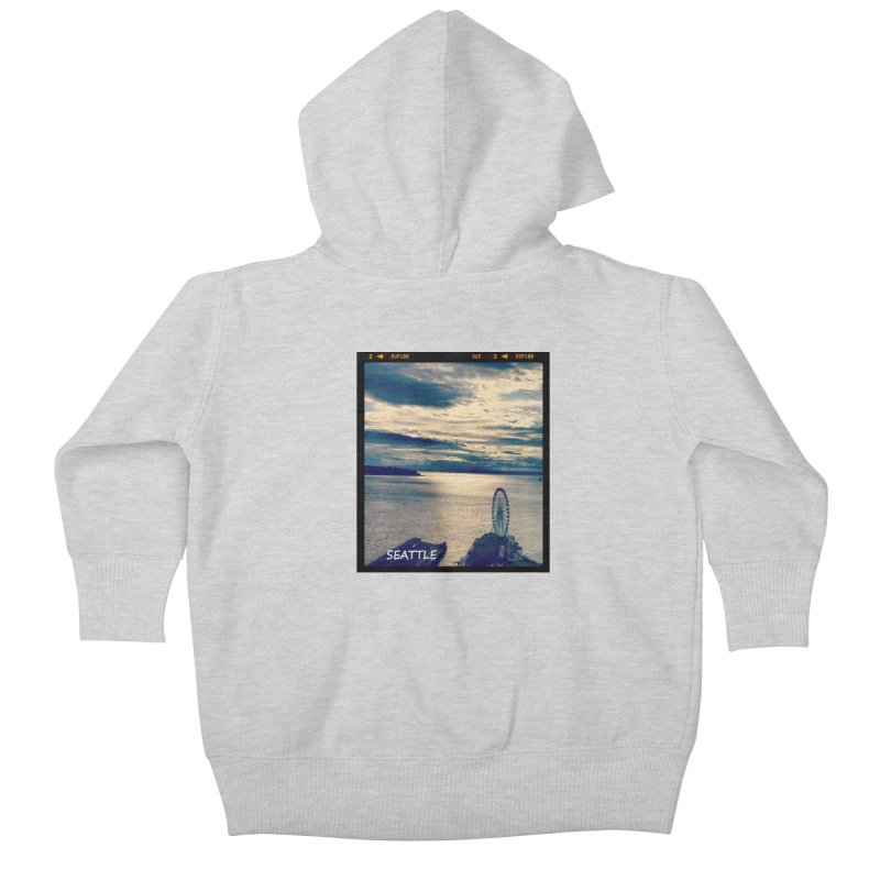Blue Seattle - you have been there. Kids Baby Zip-Up Hoody by terryann's Artist Shop