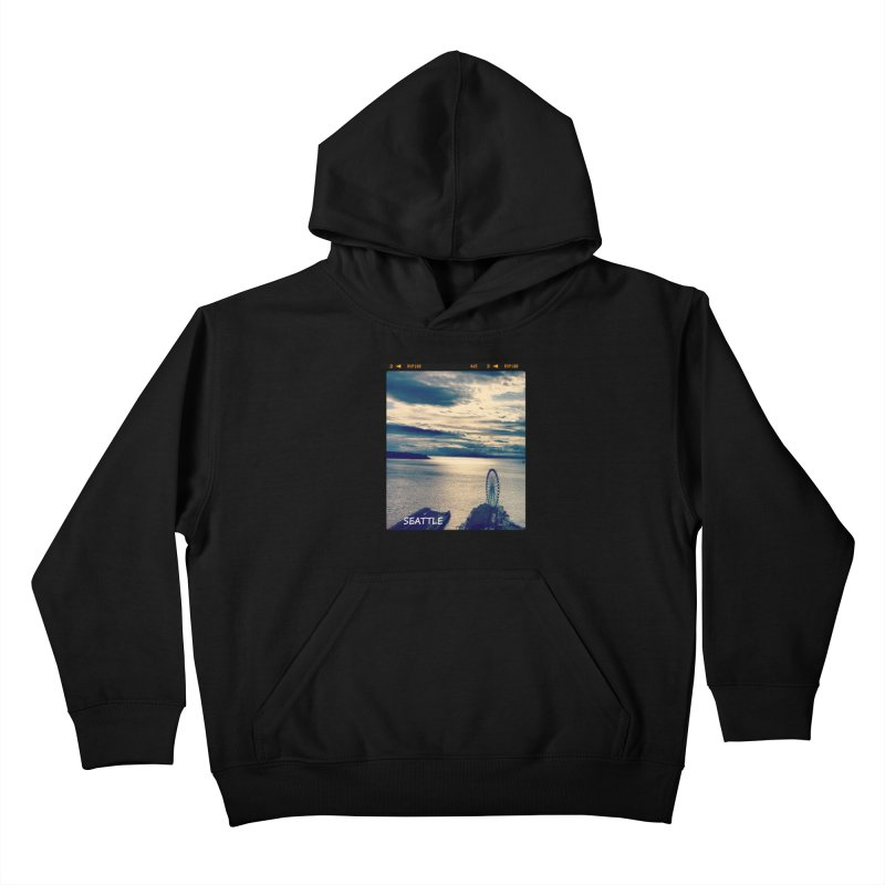 Blue Seattle - you have been there. Kids Pullover Hoody by terryann's Artist Shop
