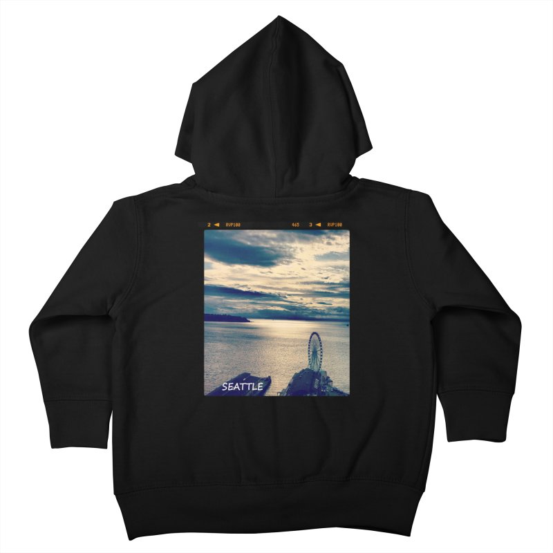 Blue Seattle - you have been there. Kids Toddler Zip-Up Hoody by terryann's Artist Shop