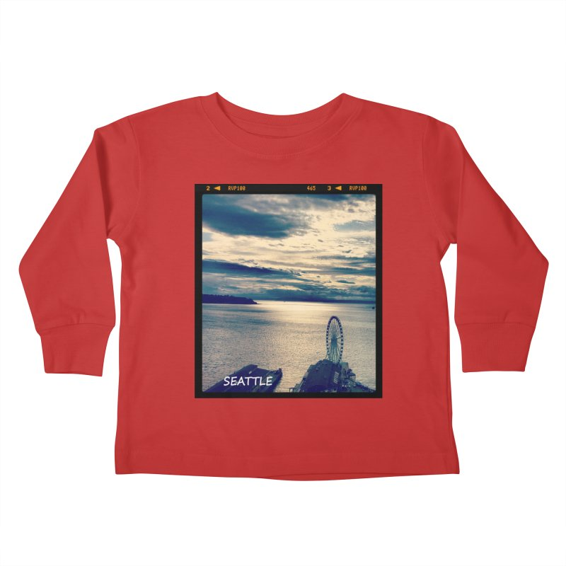 Blue Seattle - you have been there. Kids Toddler Longsleeve T-Shirt by terryann's Artist Shop
